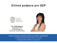 Hlavní referát místopředsedkyně Výboru pro sociální politiku Radka Maxová